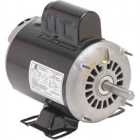 US Motors, ODP, 1 HP, 1-Phase, 1740 RPM Motor, D1C2P18Z