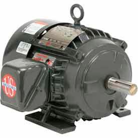 US Motors Hostile Duty TEFC, 15 HP, 3-Phase, 1770 RPM Motor, H15P2D