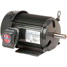 US Motors Unimount® TEFC, 1 HP, 3-Phase, 3450 RPM Motor, T1P1A