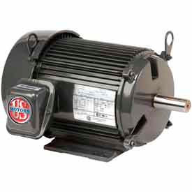 US Motors Unimount® TEFC, 3 HP, 3-Phase, 3490 RPM Motor, U3P1DF