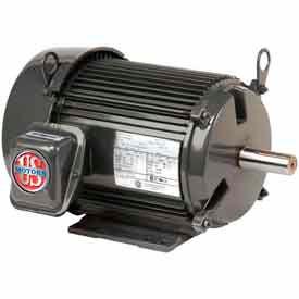 US Motors Unimount® TEFC, 5 HP, 3-Phase, 1760 RPM Motor, U5P2D