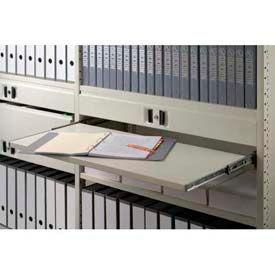 "Clipper ® Sliding Reference Shelf, 48""W X 15""D, Extends 12"", Marine Blue"