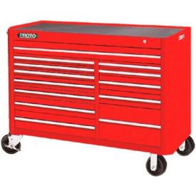 "Proto J455743-13RD 450HS 57"" Workstation - 13 Drawer, Red, 57""L X 43""H X 25""D"