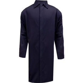 ArcGuard® Flame Resistant Food Processing Lab Coat, S, Navy, C09UJLCFS