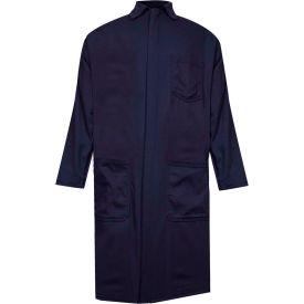 ArcGuard® Flame Resistant Lab Coat, UltraSoft, 2XL, Navy, C09UPLC