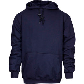 National Safety Apparel® Heavyweight Pullover FR Sweatshirt, M, Navy, C21IF03MD