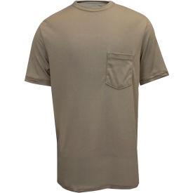 National Safety Apparel® FR Classic Cotton Short Sleeve T-Shirt, 3XL, Khaki, C54PA3XL