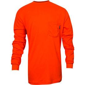 VIZABLE® Flame Resistant TrueComfort® Long Sleeve Flame Resistant T-Shirt, L, Orange