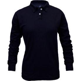 National Safety Apparel® Women's TrueComfort® FR Long Sleeve Polo Shirt, L, Navy