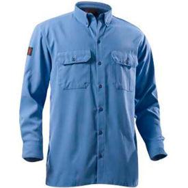 DRIFIRE® Flame Resistant Utility Shirt, 2XL, Medium Blue, DF2-324LS-MB-2XL