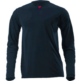 DRIFIRE® Lightweight Long Sleeve FR T-Shirt, L-T, Navy Blue, DF2-CM-446LS-NB-LGT