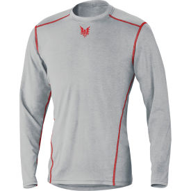 DRIFIRE® PRIME Long Sleeve Flame Resistant T-Shirt, 2XL, Gray, DF2-CM-762-PLS-RG-2XL
