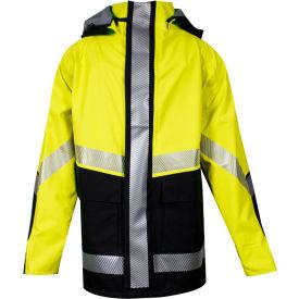 HYDROlite™ Flame Resistant Hi-Vis Storm Jacket, ANSI Class 3, Type R, Yellow/Black, 2XL