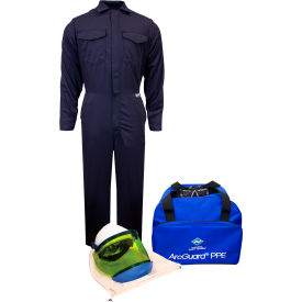 ArcGuard® KIT2CV08NG2X 8 cal/cm2 Arc Flash Kit with FR Coverall, 2XL, No Gloves