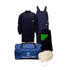 ArcGuard® KIT4SC40NG 40 cal Compliance Arc Flash Kit Short Coat & Bib Overall, MD, No Gloves