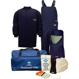 ArcGuard® KIT4SC40S12 40 cal Compliance Arc Flash Kit w/ Short Coat & Bib Overall, S, Sz 12