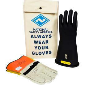 ArcGuard® Class 2 Rubber Voltage Glove Kit, Black, Size 8, KITGC208