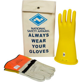 ArcGuard® Class 2 Rubber Voltage Glove Kit, Yellow, Size 12, KITGC212Y