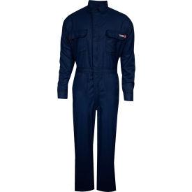 TECGEN Select® 8 cal Flame Resistant Coveralls, L-LN, Navy, TCG02160866