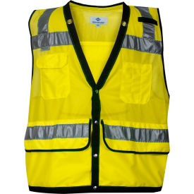 VIZABLE® Mesh Construction Survey Vest, ANSI Class 2, Type R, 3XL, Yellow