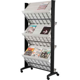 Paperflow Double Sided XL Literature Display Gray