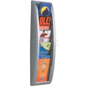 Paperflow 1/3 Letter Size 5-Pocket Quick Fit Systems Literature Display Silver