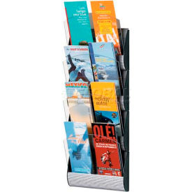 Paperflow 1/3 Letter Size 4-Pocket Maxi System Wall Display