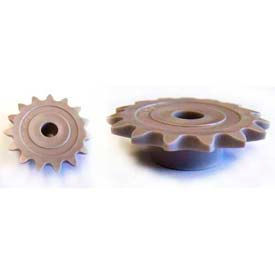 Plastock® #25 Roller Chain Sprockets 17ts, Acetal, 1/4 Pitch, 17 Tooth Roller