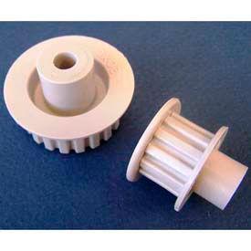 Plastock® Timing Belt Pulleys 32xldf, Acetal, Double Flange, 1/5 Pitch, 32 Teeth