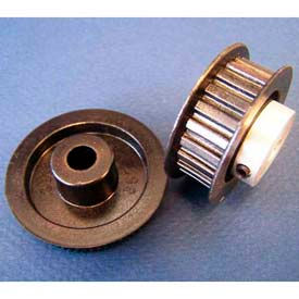 Plastock® Timing Belt Pulley 40xl037dfah1s, Lexan, Al Hub, Dbl Flange, 1/5 Ptch, 40 Teeth