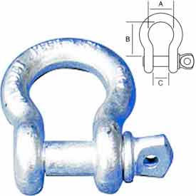 "Peerless™ 8059105 1-1/2"" Screw Pin Anchor Shackle - Pkg Qty 5"
