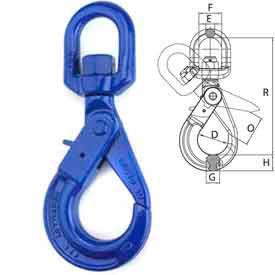 """Peerless™ 8499400 3/8"""" V10 Swivel Self-Locking Hook"""