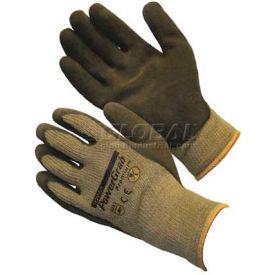 PIP PowerGrab™ Premium Gloves, Brown Latex W/ MicroFinish™, S