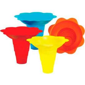 Paragon 6504 Multicolor Flower Drip Tray Cups 12 Oz, 100 Qty by