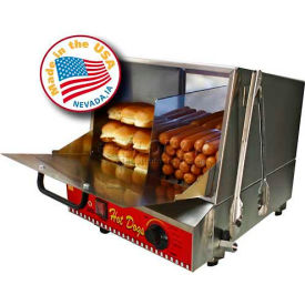 Paragon 8080,  Classic Dog Hot Dog Steamer, 192 Hot Dogs/30 Buns, 120V
