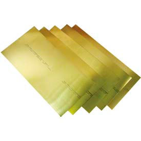 "15 Piece Brass Shim Stock Assortment 6"" x 12"" Sheets"