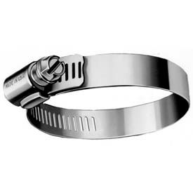 """B60H Partial Stainless Worm Gear Hose Clamp, 3-5/16"""" - 4-1/4"""" Clamping Dia. 10-Pack"""
