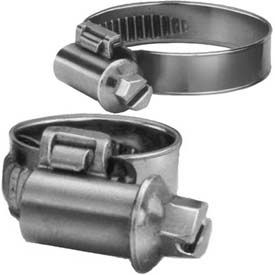 Smooth Band Metric Worm Gear Hose Clamp, 20mm - 32mm Clamping Diam-Box of 10