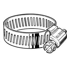 """B8HSPX 316 Stainless Steel Worm Gear Hose Clamp, 7/16"""" - 1"""" Clamping Dia. 10-Pack"""