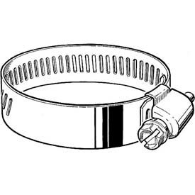 """HD44H 9/16"""" Band, Heavy Duty 3-Piece Partial SS Worm Gear Hose Clamp 2-5/16"""" - 3-1/4"""" Dia. 10-Pack"""