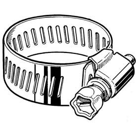 """CS12H Collared Screw Worm Gear Hose Clamp, 1/2"""" 1-1/4"""" Clamping Dia. 10-Pack"""