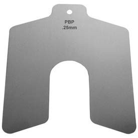 75mm x 75mm x 0.4mm Stainless Steel Metric Slotted Shim (Pack of 10) - Made In USA