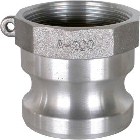 """1-1/4"""" Aluminum Camlock Fitting - Male Coupler x FPT Thread"""
