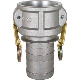 "2"" Aluminum Camlock Fitting - Male Barb x Female Coupler Thread"