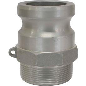 "1-1/2"" Aluminum Camlock Fitting - Male Coupler x MPT Thread"