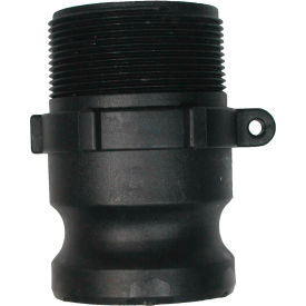 "1"" Polypropylene Camlock Fitting - Male Coupler x MPT Thread"
