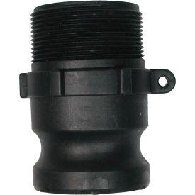 "1-1/2"" Polypropylene Camlock Fitting - Male Coupler x MPT Thread"