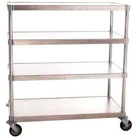 "Prairie View A244848-4-CHL2, Mobile Shelving Unit, 4-Shelf, 24""W x 54""H x 48""L, Aluminum"