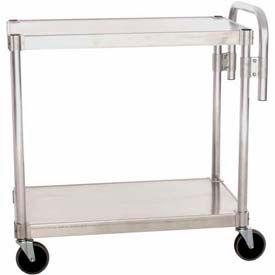 """Prairie View AUC2430, Utility Cart, 2-Shelf, 24""""W x 36""""H x 30""""D, Aluminum"""