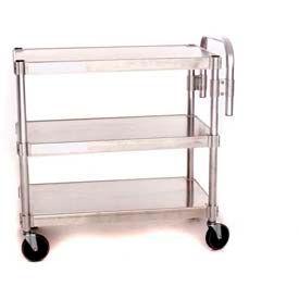 """Prairie View AUC2448-3, Utility Cart, 3-Shelf, 24""""W x 36""""H x 48""""D, Aluminum"""